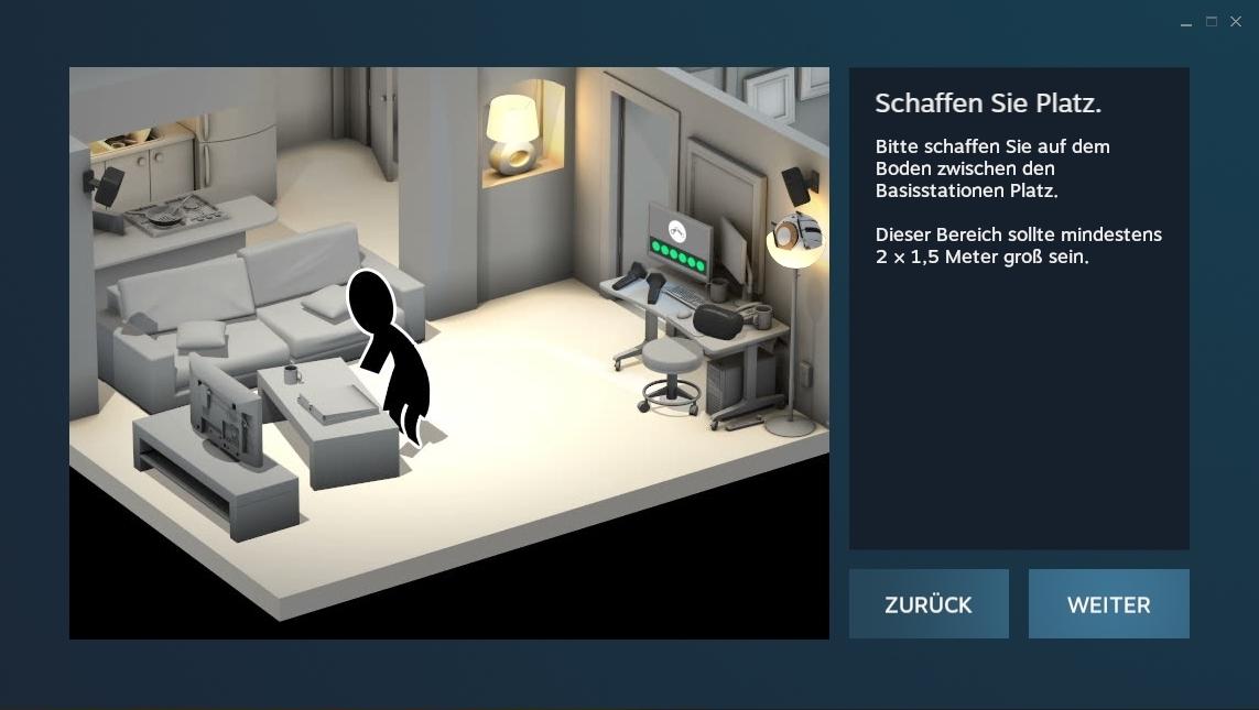 Nerdweib: Konfigurieren HTC Vive VR-Brille setup1