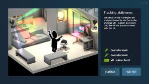 Nerdweib: Konfigurieren HTC Vive VR-Brille setup3