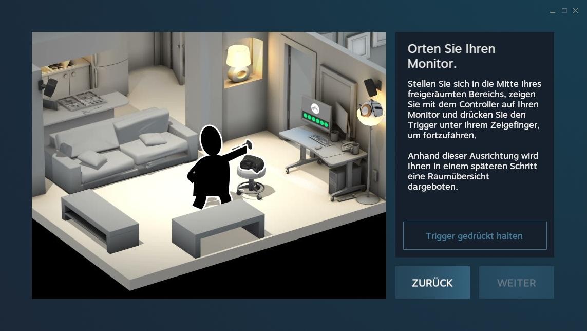 Nerdweib: Konfigurieren HTC Vive VR-Brille setup4