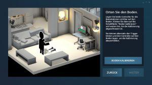 Nerdweib: Konfigurieren HTC Vive VR-Brille setup5