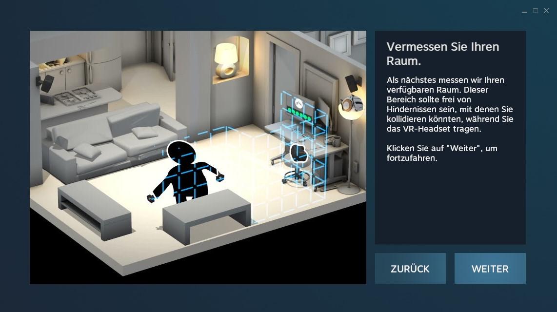 Nerdweib: Konfigurieren HTC Vive VR-Brille setup6