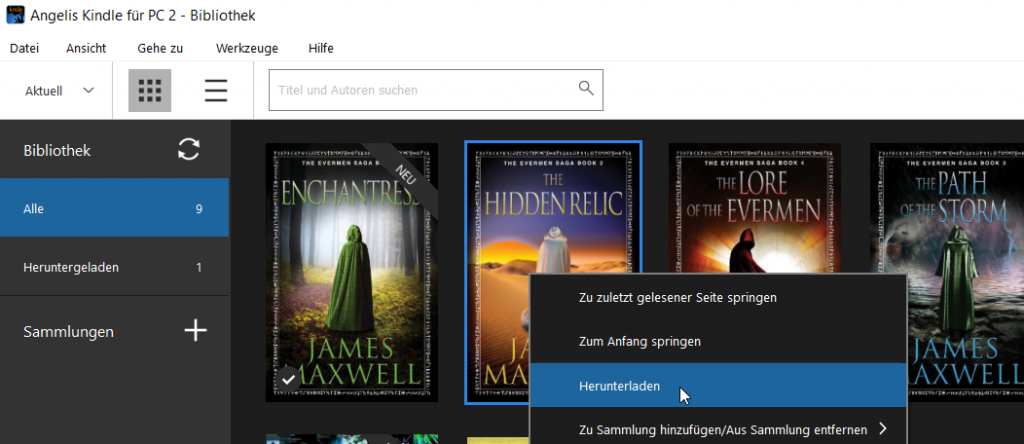 Nerdweib:: amazon ebooks auf dem Tolino lesen Step 1